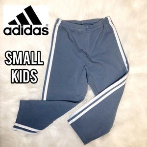 Adidas blue striped pants for kids